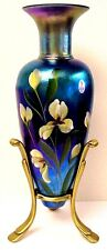 Fenton Glass Favrene Amphora Vase & Stand Very Rare Limited Edition
