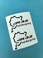 2x Nurburgring R32 VW Aufkleber Window Bumper Sticker Vinil 187