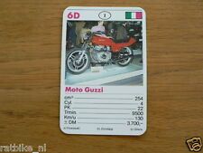 10-MOTOREN 6D MOTO GUZZI 254CC QUATTRO KWARTET KAART MOTORCYCLES, QUARTETT,