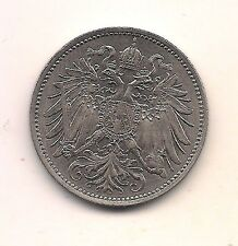 1893 Austria  20 Heller --FABULOUS BU BEAUTY!!