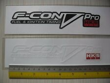 2 HKS F-CON V PRO di-cut sticker decals, JDM aftermarket racing sponsor