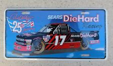 SEARS DIEHARD RICH BICKLE  #17  METAL NASCAR TRUCK RACING LICENSE PLATE