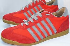 Dsquared2 Mens Shoes Red Sneakers Tennis Shoes Tessuto Fashion Size 44 Suede NIB