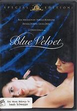 """MAKE OFFER FREE SHIP """"Blue Velvet"""" DVD MacLachlan Rossellini Hopper Dern Lynch"""