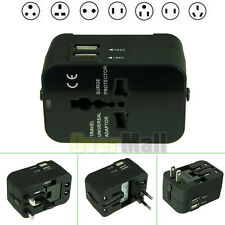 Universal World Plug Travel Adapter Converter W/ Dual USB Charger AU/US/UK/EU #2