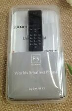 Zanco fly phone- BLACK (The worlds smallest phone,voice changer,100% plastic)NEW