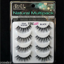 4 Pairs ARDELL Demi Wispies Natural Multipack False Eyelashes Fake Eye Lashes