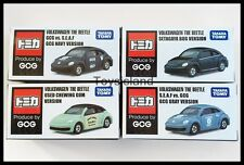 TOMICA GOG VOLKSWAGEN THE BEETLE 1/66 TOMY DIECAST CAR NEW 4 Models