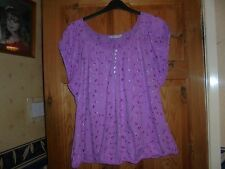 ladies size 22 lilac gypsy top,with lilac embroidered flowers, from bhs