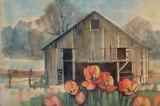 "Nebraska Artist Strever Signed, Limited 1/10, Print of Watercolor, 11"" x 16"""
