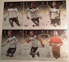 2016-17 TOPPS PREMIER GOLD SOCCER TOTTENHAM TEAM SET 6 CARDS