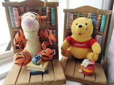 Vintage Set Of Two Disney Winnie The Pooh And Tigger Book Ends and BOOKS LOOK!