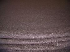 BOILED WOOL -BROWN-COATING FABRIC -FREE P+P