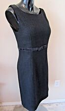 GAP Womens 10 Black Sheath Dress Boucle Wool Blend Sleeveless Career Lined LBD