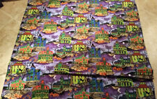 Halloween Houses Fabric Design- 100% Cotton - FQ