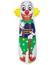42'' T Inflatable Punching Bag Clown Includes repair kit for tears or punctures