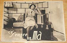 fotobusta film C'E' SEMPRE UN MA ! Carla Del Poggio Luigi Zampa 1943