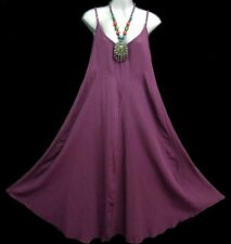 GYPSY HIPPIE VINTAGE PARTY PURPLE LONG DRESS SUMMER MATERNITY FREE SIZE L - XL