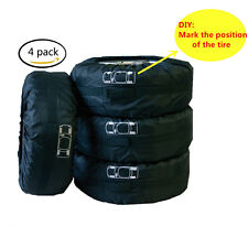 "4 Pcs 16""-22"" Tire Hide Seasonal Extra Tire Cover Storage Bag - Garage Mate Tyre"