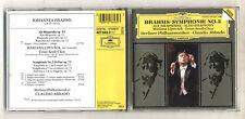 Cd BRAHMS SYMPHONY No 2 Symphonie CLAUDIO ABBADO Alto Rhapsody Berliner