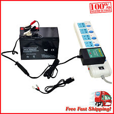 Car RV Truck Motorcycle Battery Charger Maintainer 12V 1A Smart Trickle New