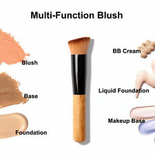 Flat Angled Wooden Liquid Foundation Powder Contour Bronzer Makeup Brush New