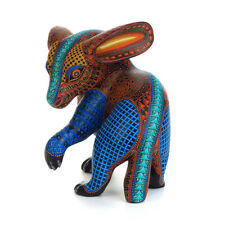 RABBIT Oaxacan Alebrije Wood Carving Handcrafted Fine Mexican Folk Art Sculpture