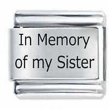In memoria di mia sorella-DAISY da JSC accoppiamenti Classic Taglia Italiana Bracciale con Charm