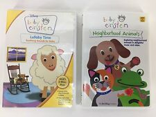 Baby Einstein 2 DVD Lot Bundle Neighborhood Animals Lullaby Time Children Baby