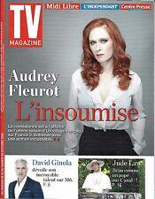 TV MAGAZINE N°22456 23/10/2016 AUDREY FLEUROT/ GINOLA/ JUDE LAW/ DRUCKER&BONNEC