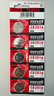 5 NEW CR2016 MAXELL BATTERY - Free Shipping Worldwide - Expiration Year: 2024