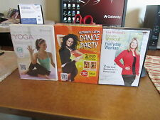 3 NEW EXERCISE DVD'S LISA WHELCHELS EVERYDAY WORKOUT, LATIN DANCE, YOGA FOR BACK