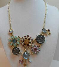 Betsey Johnson Stargazer Mixed Faceted Bead Cluster Necklace MSRP $55