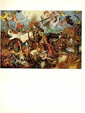 """1969 Vintage BRUEGEL """"THE FALL OF THE REBEL ANGELS"""" COLOR offset Lithograph"""