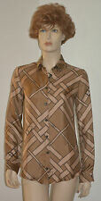 NWT BURBERRY LONDON WOMENS DRESS SILK SHIRT BLOUSE SZ US 4 EU 38
