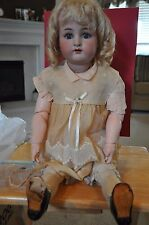 "Antique 30"" Simon Halbig ; Kammer & Reinhardt Bisque Doll with Necklace"