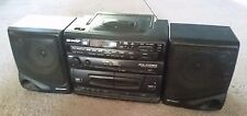 SHARP VINTAGE STEREO BOOMBOX AM/FM RADIO CD CASSETTE RECORDER GX-CD30