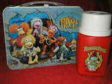 1984 FRAGGLE ROCK METAL LUNCH BOX WITH THERMOS JIM HENSON
