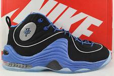 Nike Air Penny II Black Varsity Blue Metallic Silver Size 9 2 Foamposite