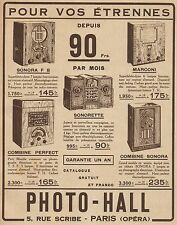 Y9388 Radio Photo-Hall - Pubblicità d'epoca - 1933 Old advertising