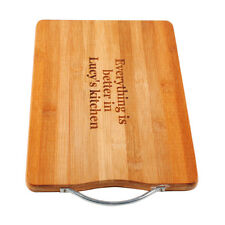 Custom Personalized Laser Engraved Bamboo Wood Cutting Board Wedding Names Date