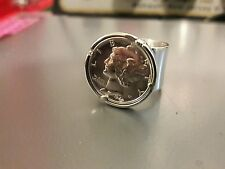 STERLING SILVER RING SIZE 8 W/ AMERICAN 1940  silver DIME