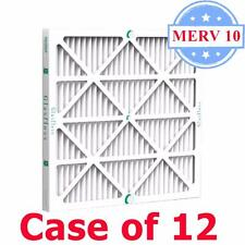 20x25x2 Air Filter MERV 10 Pleated by Glasfloss - Box of 12 - AC/Furnace Filters
