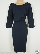 BNWT Savoir Midnight Blue Wiggle Pencil Dress Size 22 Stretch RRP £44