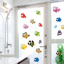 Large Corlorful Fish & Sea Shells Wall Stickers Bathroom Kids Room Decal Vinyl