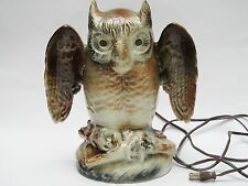 VINTAGE 50s KRON OWL CERAMIC TV LAMP