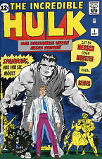 THE INCREDIBLE HULK #1 GOLD-STAMP-VARIANT limited GERMAN REPRINT