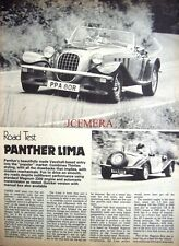 1977 PANTHER 'Lima' Sports Car Auto Report Clipping (4-Sided Cutting)