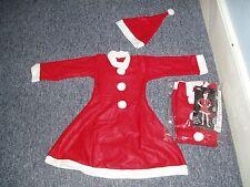 Xmas 2Pc Girls Santa Dress Up Costume one size