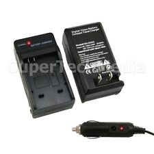Battery Charger Kit with Car Adapter For Canon NB-6L Powershot D10 S90 S95